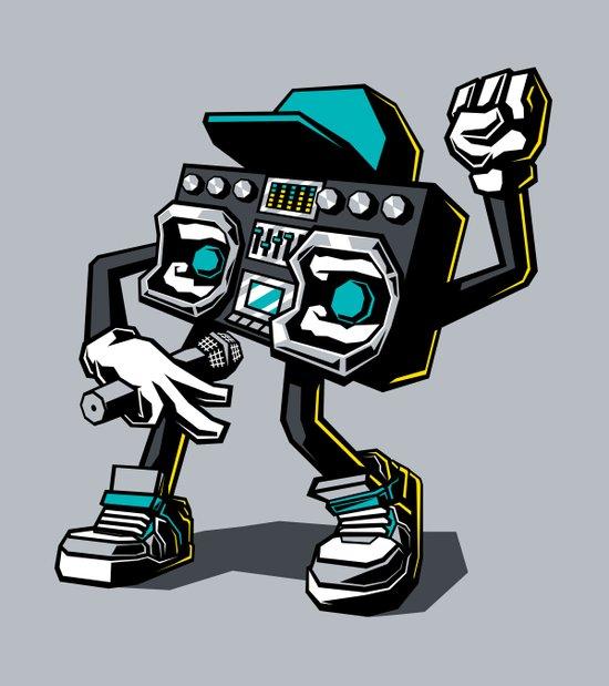 Beatbox Boombox Art Print