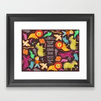 Jumping Framed Art Print
