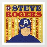Steve Rogers/Captain Ame… Art Print