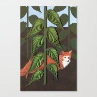 Fox Paper Art, Hand Draw… Canvas Print