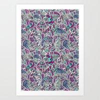 Tangle Pattern #001 Art Print