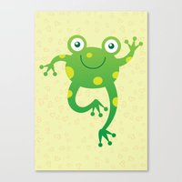 Sweet Baby Frog Canvas Print
