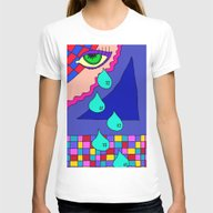 Abstract 34 Womens Fitted Tee White SMALL