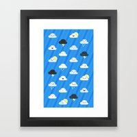 Forecast Feelings Framed Art Print