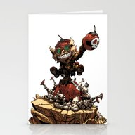 Stationery Cards featuring League Of Legends Ziggs by Joel Cumpson