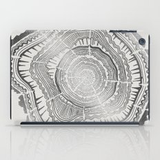 Growth Rings – 65 Years – Silver iPad Case