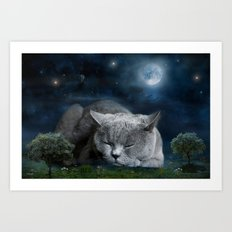 Sweet Dreams with Diesel Art Print