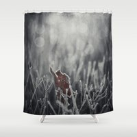 Maple Leaf Hoarfrost Shower Curtain
