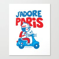 J´Adore Paris Canvas Print