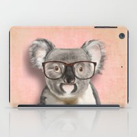 Funny Koala With Glasses iPad Case