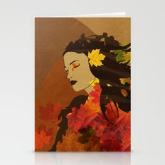 Portrait In Autumn... Stationery Cards