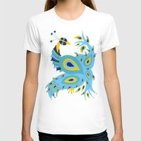 peacock T-shirts featuring Peacock by Cat Coquillette