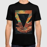 Disruption Of His World… Mens Fitted Tee Black SMALL