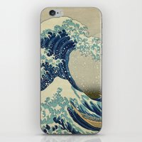 The Great Wave off Kanagawa iPhone & iPod Skin