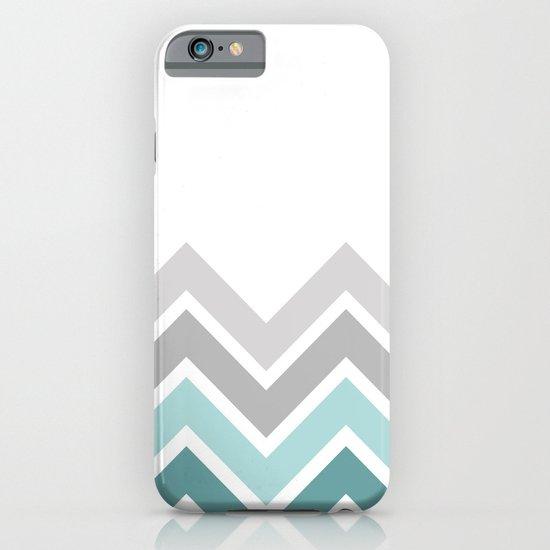 WHITE/ TEAL CHEVRON FADE iPhone & iPod Case