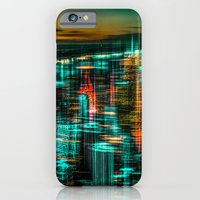 iPhone & iPod Case featuring New York - the night awakes (green) by hannes cmarits (hannes61)
