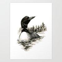 North Shore Loon Art Print