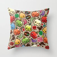 Apple Pattern Throw Pillow