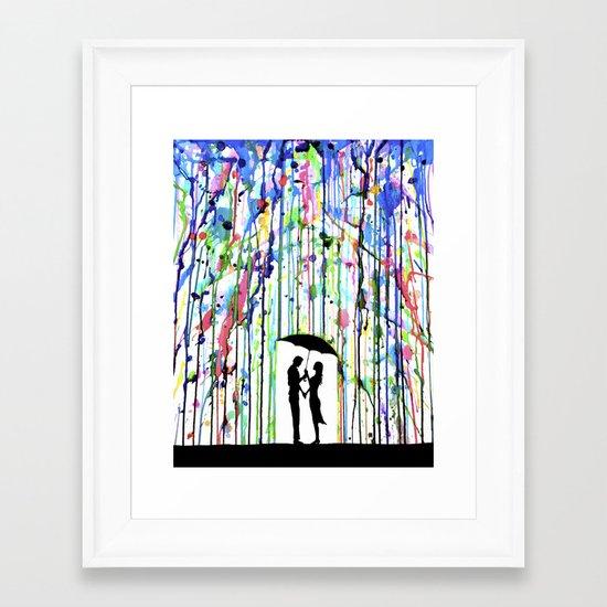 Pour Deux Framed Art Print