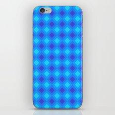 Dark Blue Cubes - Geometric Work iPhone & iPod Skin