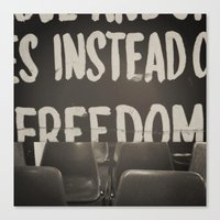 Canvas Print featuring It Was For Freedom by Piccolo Takes All