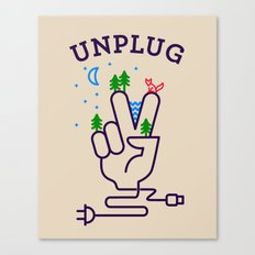 Unplug Canvas Print