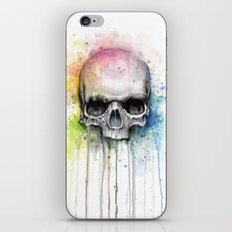 Skull Watercolor Painting iPhone & iPod Skin