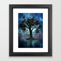 The tree that wept a lake of tears Framed Art Print