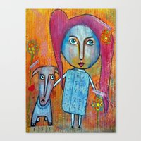 Me and My Dog Canvas Print