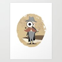 Art Print featuring Mr. Detective by Eszter Schall