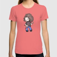 Plushio Sanchez Womens Fitted Tee Pomegranate SMALL