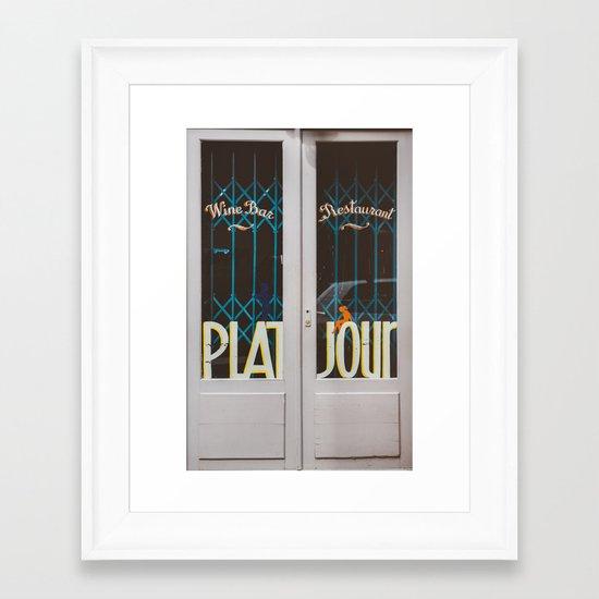 Plat du Jour Framed Art Print