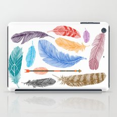 Feathers on White iPad Case