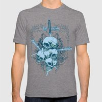 Katanas Mens Fitted Tee Tri-Grey SMALL