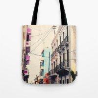 Colorful Buildings Of Ol… Tote Bag