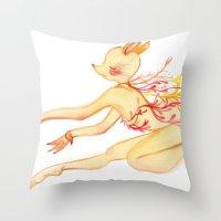 Study of Dancer 6 en l'air Throw Pillow