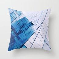 Blue Windows Throw Pillow