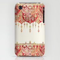 Royal Red Art Deco Doubl… iPhone (3g, 3gs) Slim Case