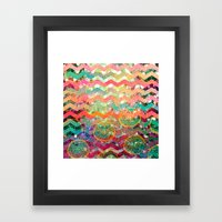 New World Chevron Spring Edition Framed Art Print