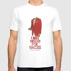 SUCCESS White SMALL Mens Fitted Tee