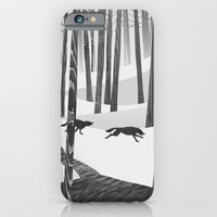 iPhone & iPod Case featuring Martwood Wolves by Martynas Pavilonis