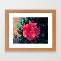 Bloom Into A Galaxy Framed Art Print