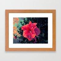 Bloom into a Galaxy Framed Art Print