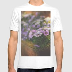 Sunny flowers White Mens Fitted Tee SMALL