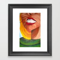 In a circular motion Framed Art Print