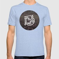 Fade Away Mens Fitted Tee Tri-Blue SMALL