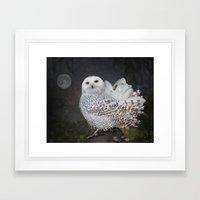 If an owl became a magnolia Framed Art Print