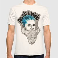 Beardo Wierdo Mens Fitted Tee Natural SMALL
