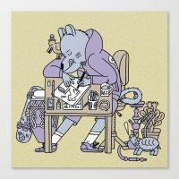 draw a cat  Canvas Print