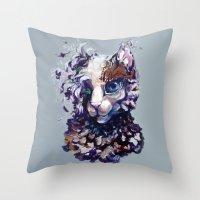 Brightheart Flowers Throw Pillow